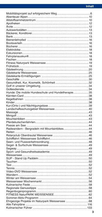 Veranstaltungskalender Sommer 2013 - Weissensee