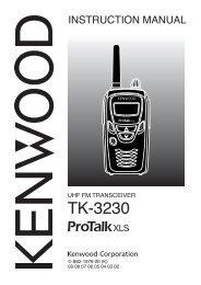 Manual TK-3230 - Kenwood