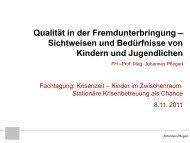 Qualität in der Fremdunterbringung - plan B