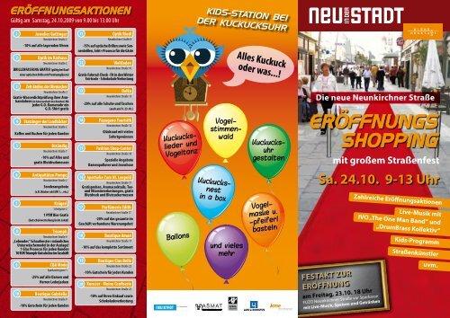 "Flyer ""Eröffnungs-Shopping"""