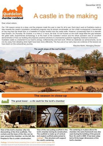 """""""A castle in the making!"""" N°3 (PDF - 778 Ko) - Guédelon"""