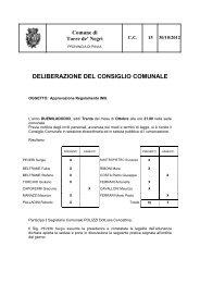delibera approvazione regolamento - Comune di Torre De' Negri
