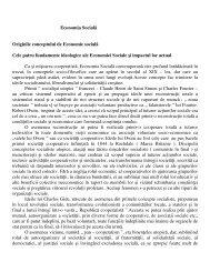 Originile conceptului de Economie socială - CSN Meridian