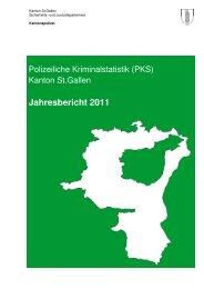 Kriminalstatistik 2011 (5913 kB, PDF) - Kantonspolizei St.Gallen