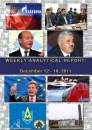 Weekly analytical report: December 12 - 18, 2011 - Українська ...