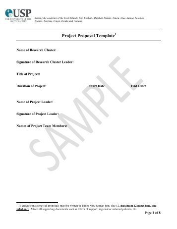 Project Proposal Template   Research