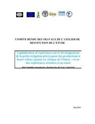 PAGIR : Plan d'Action pour la Gestion Intégrée