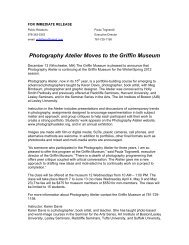Photography Atelier Moves to the Griffin Museum