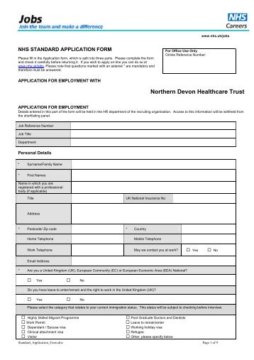 External Employment Application Form Life Healthcare