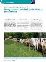 Gedrag veehouder beïnvloed productiviteit en ... - Melkveebedrijf