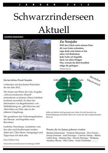 Ausgabe Januar 2012 - Schwarzrinderseen