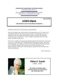LOGO-News - Akademie für Logotherapie und Existenzanalyse Mainz