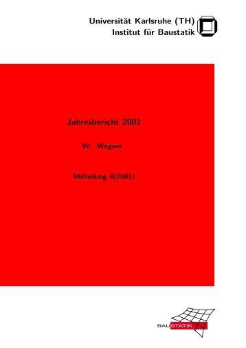 Jahresbericht 2001 - am Institut für Baustatik