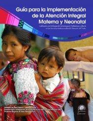 Portada de la Guía Materna y Neonatal.tif - PAHO/WHO