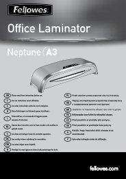 Neptune A3 Manual - Fellowes