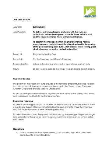 OPERATIONS SUPERVISOR Job Notice V3 - CalACT
