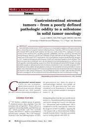 Gastrointestinal stromal tumors - MÆDICA - a Journal of Clinical ...