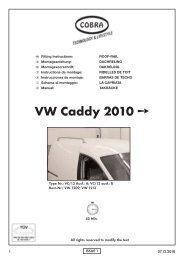 Caddy Dachreling - Cobra-SOR