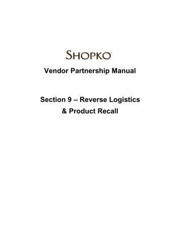 c 08 distribution and domestic transportation vendors shopko rh yumpu com