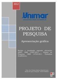 modelo projeto de pesquisa - Unimar