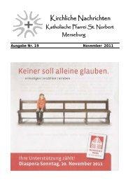Ausgabe Nr. 19, November 2011 ( PDF -Datei, 327 kB) - Katholische ...