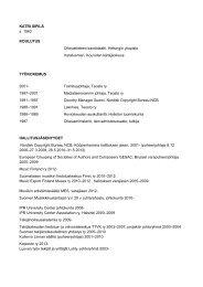 Lue CV - Teosto