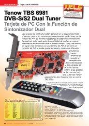 Tenow TBS 6981 DVB-S/S2 Dual Tuner - TELE-satellite ...