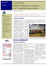 Bulletin d'information et de liaison de la Commission armées-jeunesse