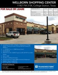 WELLBORN SHOPPING CENTER - Transwestern