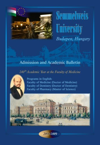 Semmelweis University - International Degree Programs in Hungary