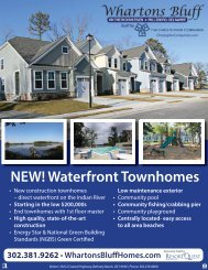 NEW! Waterfront Townhomes - Delaware Beach Homes for Sale
