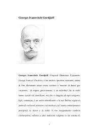 Da Gurdjieff a Claudio Naranjo