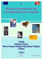 Etude comparative de compétitivité par produit - Invest in Tunisia ...