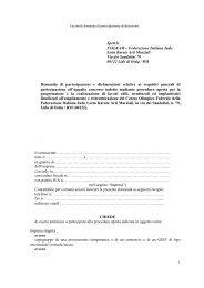 facsimile domanda di partecipazione e dichiarazione - Fijlkam
