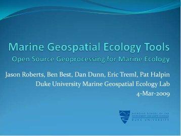 Jason Roberts and Benjamin Best - GeoTools - NOAA