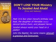 4. Don't Lose Your Ministry To Jezebel and Ahab - Rhm-Net.org