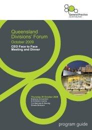 October 2007 Forum Program - General Practice Queensland
