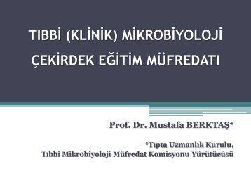 Mustafa Berktaş - Türk Mikrobiyoloji Cemiyeti