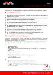 Formal volunteering: Recruitment checklist - Volunteering Qld