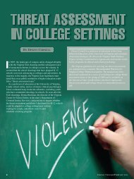 Threat Assessment in College Settings - ResearchGate