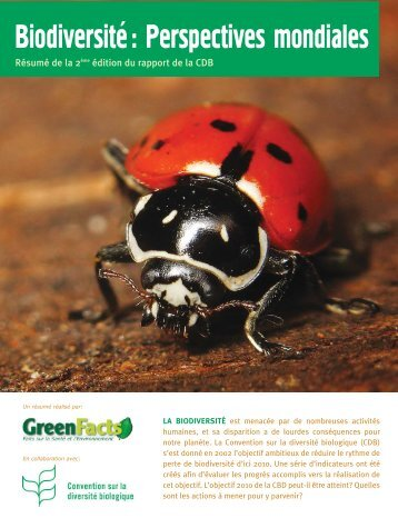 Biodiversité: Perspectives mondiales - GreenFacts