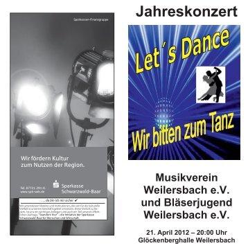 Jahreskonzert - Musikverein Weilersbach