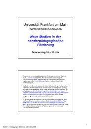 19.10.06 - Neue Medien in der sonderpädagogischen Förderung