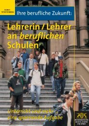 Lehrerin/Lehrer an beruflichen Schulen - ZfL - Universität Mannheim