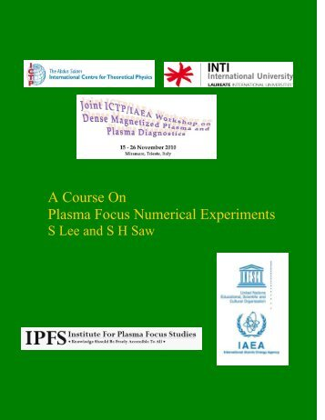A Course On Plasma Focus Numerical Experiments