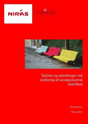 Tjekliste og anbefalinger ved etablering af ... - Servicestyrelsen