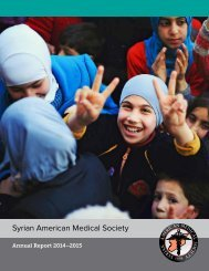 Syrian American Medical Society Annual Report 2015