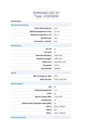 Klik hier voor uitgebreide specificaties (PDF) - BVA Auctions