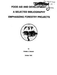 food aid and development: a selected bibliography ... - part - usaid