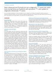 Clinical Thyroidology Volume 22 Issue 8 August 2010 - American ...